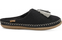 Dámské černé bačkory TOMS Wool Ivy