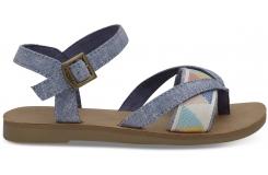 Dětské modré sandálky TOMS Youth Tribal Lexie