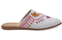 Dámské šedé pantofle TOMS Chambray Jutti Mule