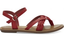 Dámské červené sandálky TOMS Suede Lexie