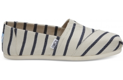 Dámské bílo-modré TOMS Stripes Venice Collection Alpargatas