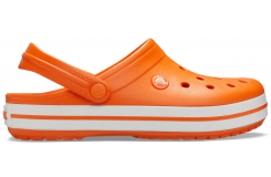 Crocband Orange/White M4W6