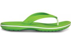 Crocband Flip  Volt Green/White