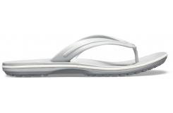 Crocband Flip Light Grey/White M10W12