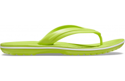 Crocband Flip Lime Punch/White