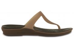 Crocs Rio Flip Women's Bronze/Espresso W7