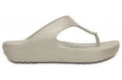 Crocs Sloane Platform Flip W - Platinum W6