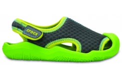 Swiftwater Sandal Kids - Graphite/Volt Green C10