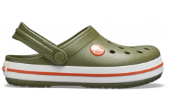Crocband Clog K Army Green/Burnt Sienna C10