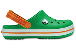 Crocband Clog K Grass Green/White/Blazing Orange C6