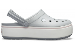 Crocband Platform Clog Light Grey/Rose M5W7