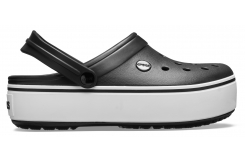 Crocband Platform Clog Black/White