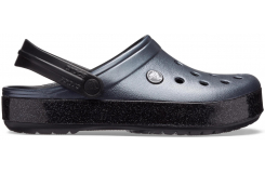 Crocband Printed Clog Metallic Black