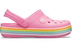Crocband Rainbow Glitter Clg K Pink Lemonade
