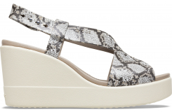 Crocs Brooklyn High Wedge W Multi/Stucco