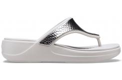 Crocs Monterey Metllc Wdg Fp W Silver/Platinum