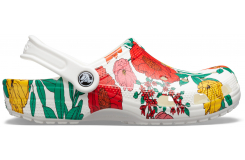 Classic Printed Floral Clog White/Floral