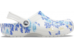 Classic Printed Floral Clog White/Blue