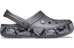 Crocband Snake Print Clog Graphite/Black