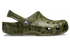 Classic Printed Camo Clog Black Army Green
