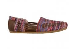 Barevné dámské kožené TOMS Huarache Alpargata
