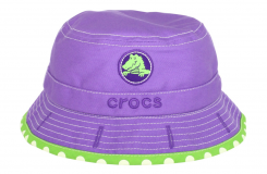 Girls Reversible Bucket - Purple/Lime Polka Dot - 12-24 měsíců