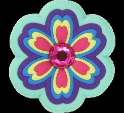 Odznáček Jibbitz - Rhinestone Rainbow Flower