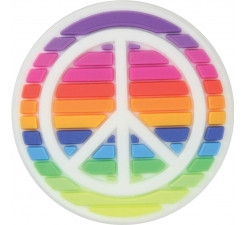 Odznáček Jibbitz - Rainbow Peace Sign