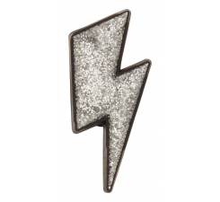 Odznáček Jibbitz - Silver Lightning Bolt