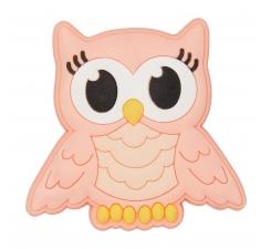 Odznáček Jibbitz - Pink Night Owl