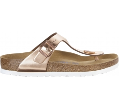 Měděné pantofle Birkenstock Gizeh Metallic Leather