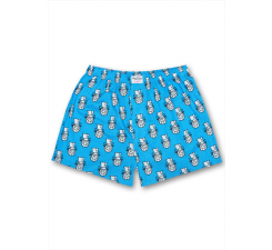 Modro-bílé trenýrky Happy Socks Mr. A // Kolekce André