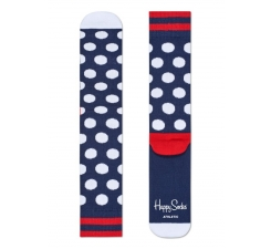 Barevné ponožky Happy Socks s bílými puntíky, vzor Big Dot // kolekce Athletic