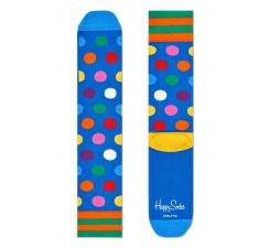 Modré ponožky Happy Socks s barevnými puntíky, vzor Big Dot // kolekce Athletic