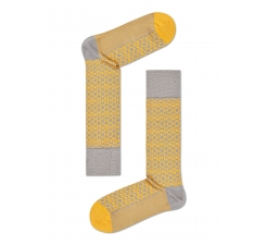 Žluté ponožky Happy Socks, vzor Aztec // kolekce Dressed