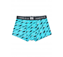 Tyrkysové boxerky Happy Socks s helmami x Billionaire Boys Club