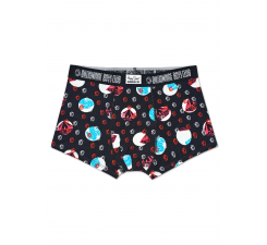 Černé boxerky Happy Socks s helmami a barevným vzorem Diamonds & Dollars X Billionaire Boys Club