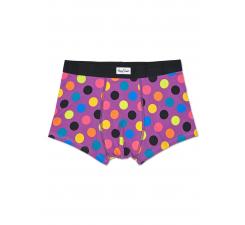 Fialové boxerky Happy Socks s barevnými puntíky, vzor Big Dot
