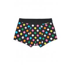 Černé boxerky Happy Socks s barevnými puntíky, vzor Big Dot