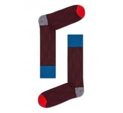 Hnědočervené ponožky Happy Socks, vzor Cube // kolekce Dressed