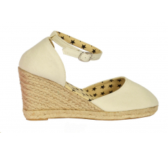 Jute Wedge With Ankle Strap Natural