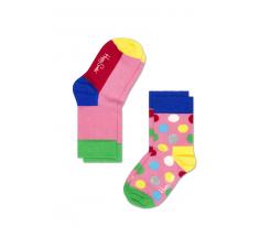 Dětské barevné ponožky Happy Socks, dva páry - Five Color a puntíky