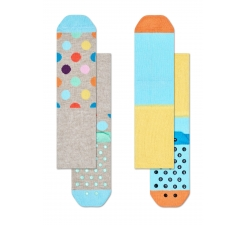 Dětské barevné protiskluzové ponožky Happy Socks, dva páry – vzor Big Dot