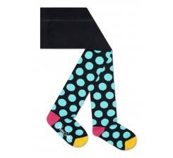 Dětské barevné punčochy Happy Socks, vzor Big Dot