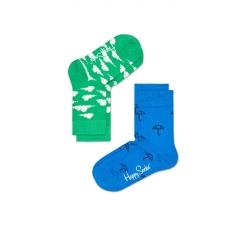 Dětské barevné ponožky Happy Socks, dva páry – Umbrella a Clouds