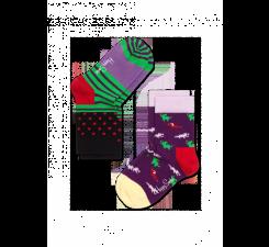 Dětské barevné ponožky Happy Socks, dva páry - Stripe Dot a Jungle