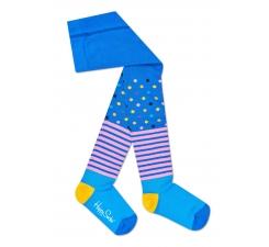 Dětské modré punčochy Happy Socks, vzor Stripe Dot