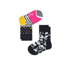 Dětské barevné ponožky Happy Socks, dva páry – Stripe Dot a Dolphin