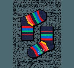 Dětské barevné ponožky Happy Socks s pruhy, vzor Stripe