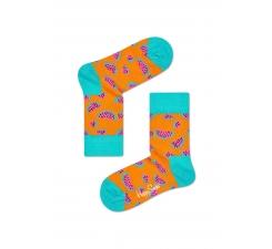 Dětské oranžové ponožky Happy Socks s melouny, vzor Watermelon